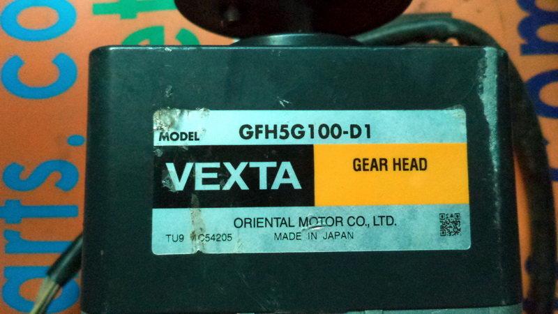Oriental Vexta Motor GFH5G100-D1 Gear Head W// AXHM5100K-GFHK2 DC Motor