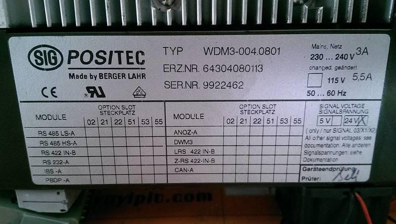 BERGER LAHR SIG POSITEC WDM3-004.0801 SERVO MOTOR DRI (3)