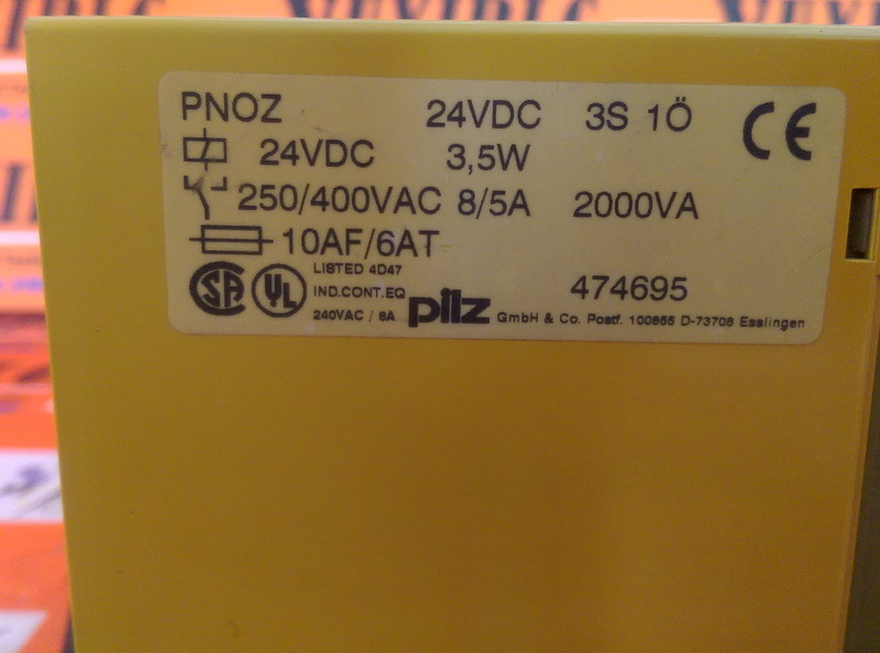 PILZ PNOZ 24VDC 3.5W Safety Relay (3)