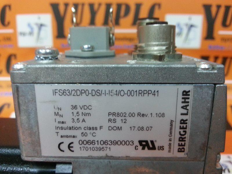 BERGER LAHR IFS63/2DP0-DS/-I-I54/O-001RPP41 MOTOR (3)