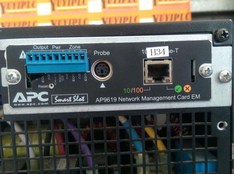 apc ap9619 networt mangent card em plc dcs servo control motor