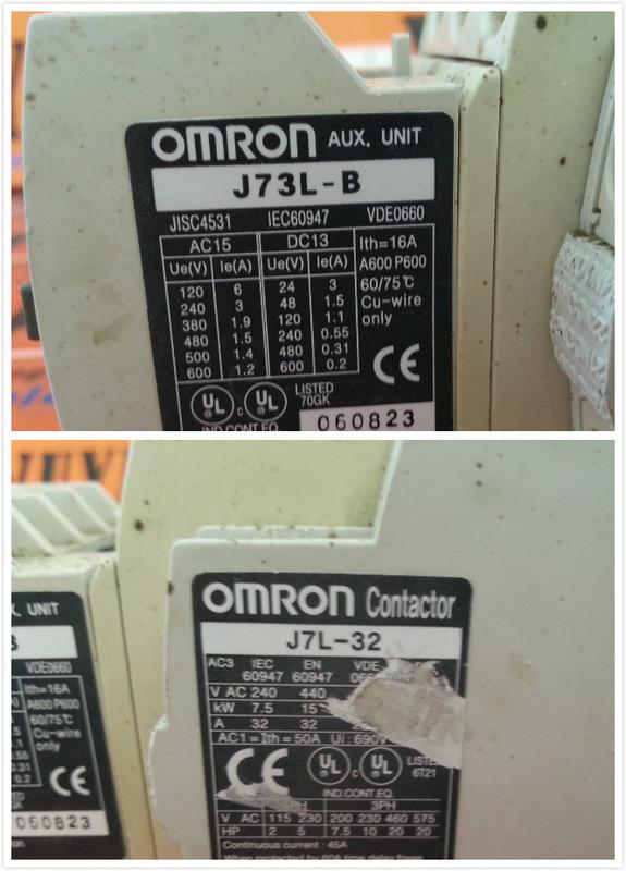 OMRON J73L-B WITH J7L-32 MOTOR CONTACTORS - PLC DCS SERVO Control