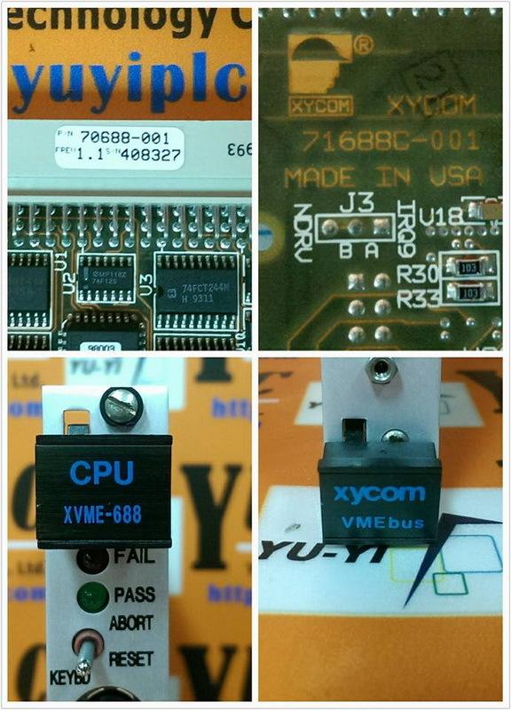 XYCOM CPU XVME-688 REV1.1 / 70688-001 VMEBUS BOARD (3)