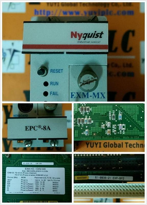 RADISYS NYQUIST EPC-8A EXM-HD / EXM-MX VME BOARD - PLC DCS SERVO