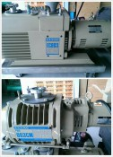 ULVAC EC803 OIL VACUUM PUMP W/ PMB 003CM BOOSTER PUMP (2)