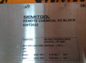 SEMITOOL 429T2032 REMOTE CHEMICAL I/O BLOCK (3)