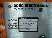 acdc electronics POWER SUPPLY 12D3.4 (3)