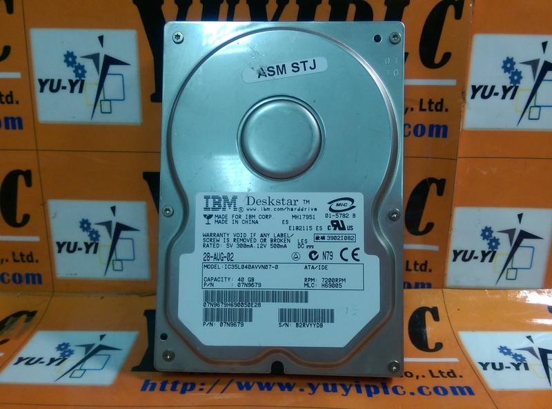 IBM IC35L040AVVN07-0 40GB P/N:07N9679 HARD DRIVE - PLC DCS