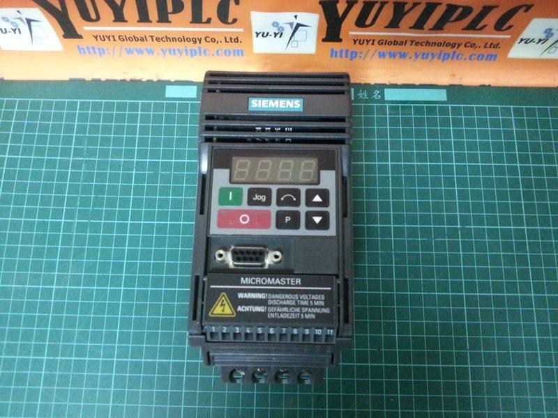 SIEMENS MICROMASTER 6SE9211-5BA40 INVERTER - PLC DCS SERVO